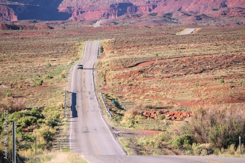 Road in Castle Valley, Utah, USA