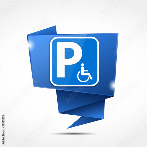 bulle origami : handicap parking