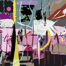 illustration de fond abstrait, la composition avec des coups de pinceau