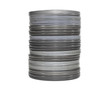 Old movie film cans isolated with clipping path.