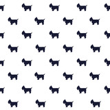Vector pattern with dog