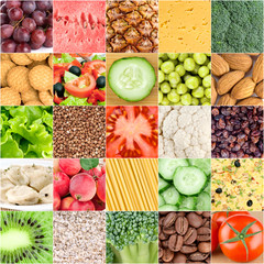 Collection of healthy food backgrounds