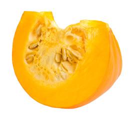 Fresh slice pumpkin