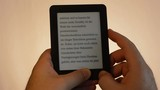 e-book reader bright man finger