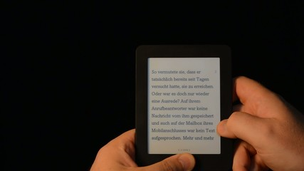 e-book reader dark