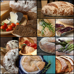 Country Style Wholemeal Rye Bread Loaf Set Collage