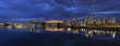 Vancouver BC Canada Skyline by False Creek at Blue Hour