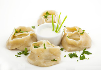 meat dumplings on a plate
