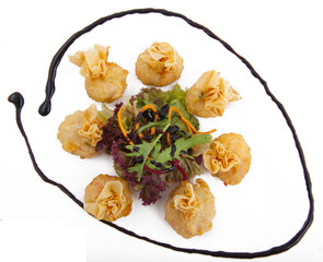 meat dumplings on a plate