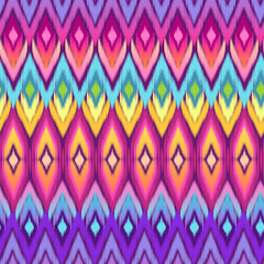 rainbow ikat ~ seamless background