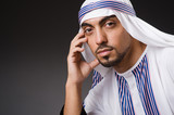 Arab man in deep thinking mode