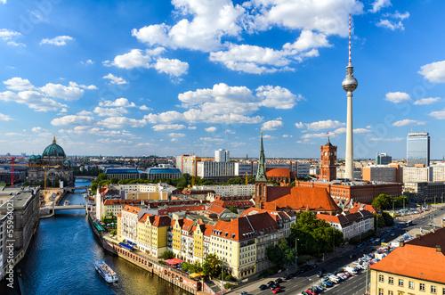 Foto op Canvas Berlijn Berlin Skyline Panorama