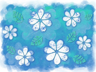 Grunge Blue and Green Nature Design