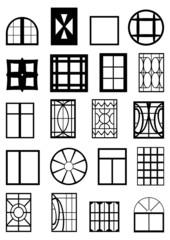 Window frames.