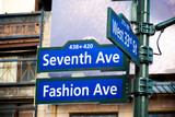 Fashion Ave, 34th St, Seventh Ave.
