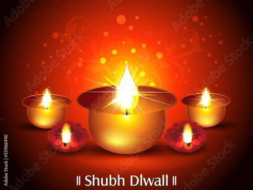 Diwali Background with Deepak Set