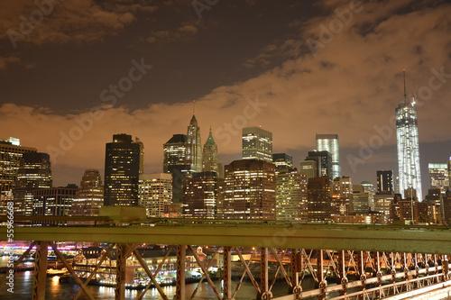 Fototapeten,nacht,manhattan,herabsetzen,new york