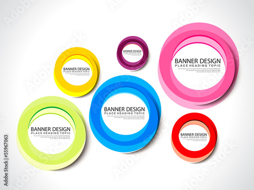 Banner Design Wtih colorful Circle
