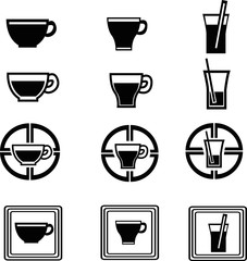 set of beverage icons