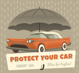 Protect your car. Vector illustration.