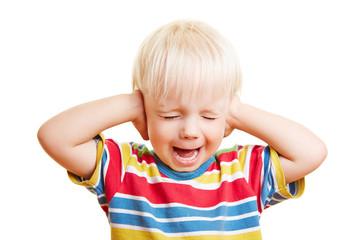 Kind mit Mittelohrentzündung