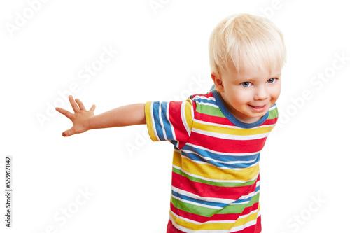 Lachendes Kind beim Tanzen