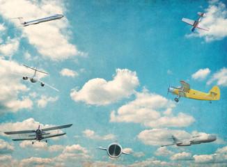 Retro aviation vintage background