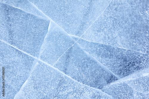 Leinwandbild Motiv Baikal ice texture