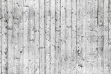 White concrete wall with wooden formwork pattern poster