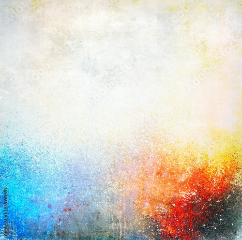 Splatter paint colorful background