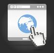 Open window of Web browser