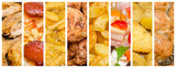 Delicious But Unhealthy Variety Of Fast Food Collage