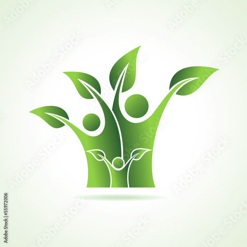 eco family icon stock vetor