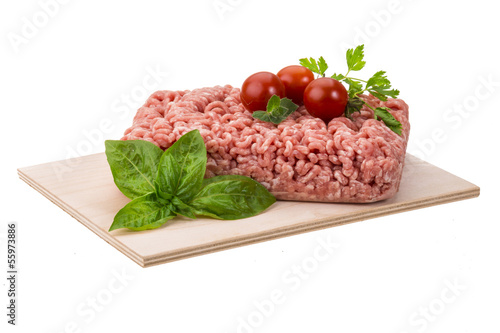 Meat stuffing with basil