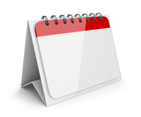 Blank paper calendar. 3D Icon isolated on white background