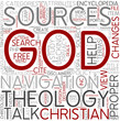 Theology Proper Word Cloud Concept