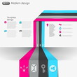 Modern business infographics web style options banner