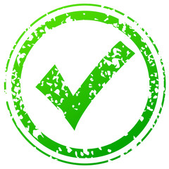 Check green stamp