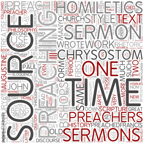 Homiletics Word Cloud Concept