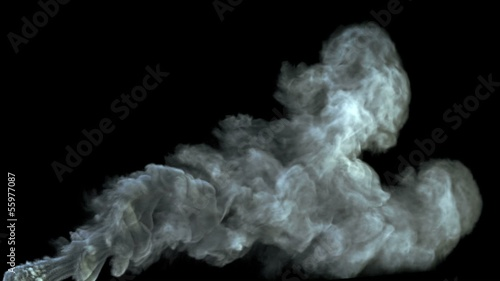 High-detailed smoke with alpha (high definition, 1080p)