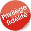 étiquette privilège fidélité