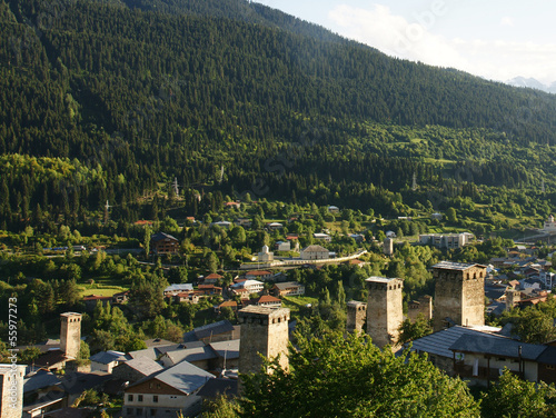canvas print picture Mestia, Svaneti, Georgien