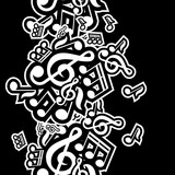 Fototapety vector illustration of musical notes