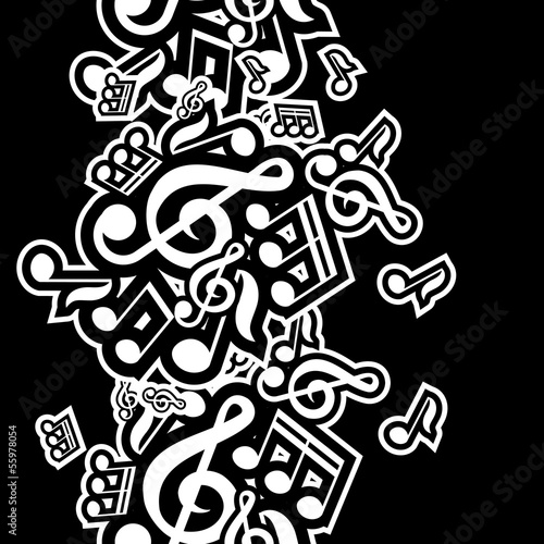 vector illustration of musical notes