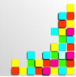Pixel Hintergrund Tetris Retro Farbig Poster Wallpaper
