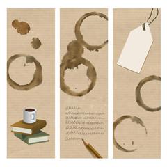 Lesezeichen Kaffeeflecken