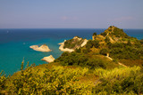 Seascape of coast and beaches in Corfu island, Greece