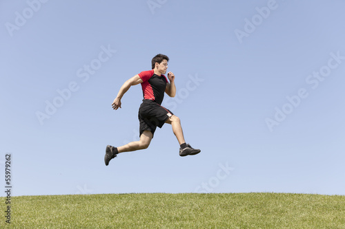 athlete male running