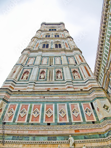 The Campanille of Florence Cathedral. Florence