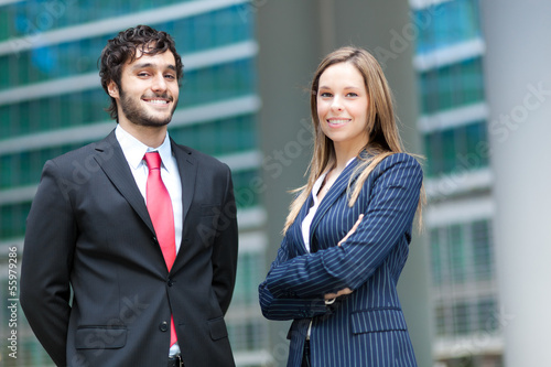 Couple of businesspeople